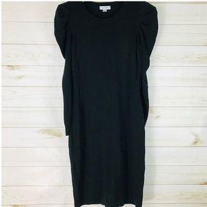 Calvin Klein Puff Sleeves Black Dress Sweater